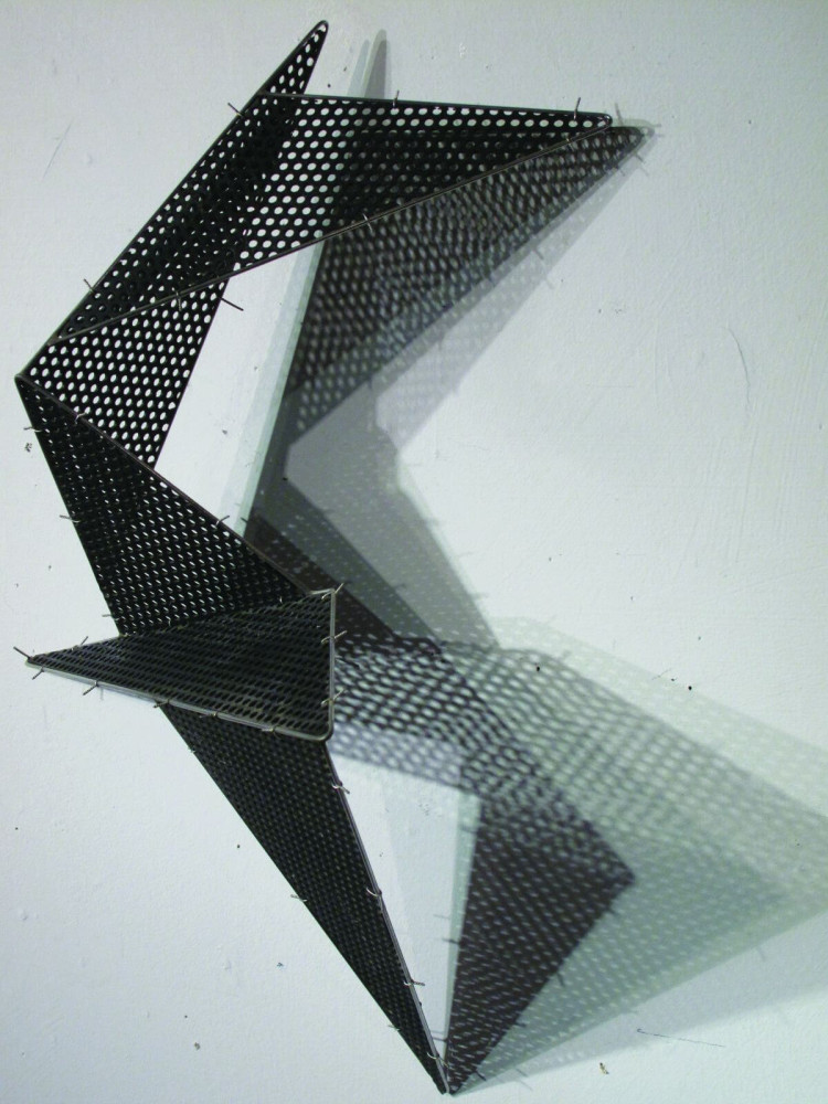 Black Perforated Fold