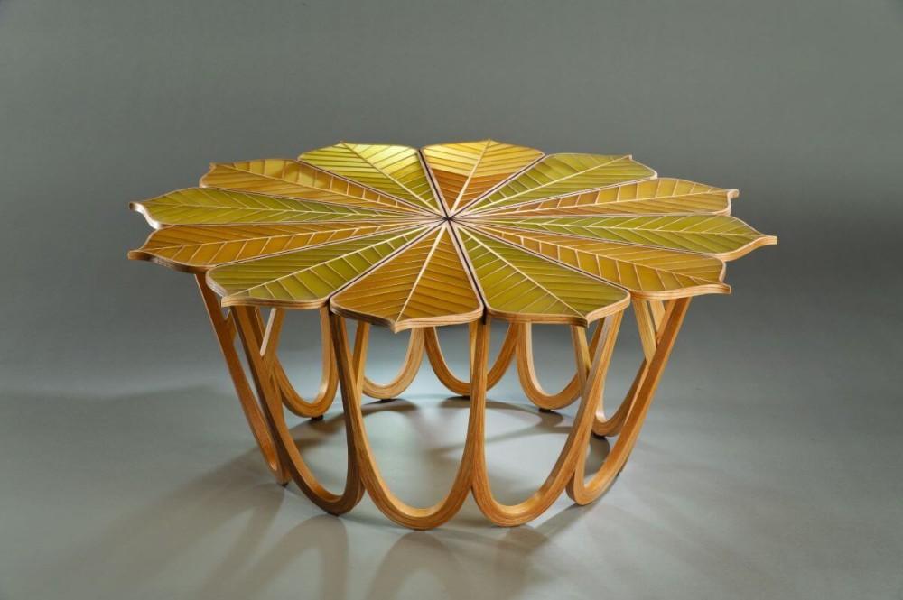 Twelve Leaf Resin Table