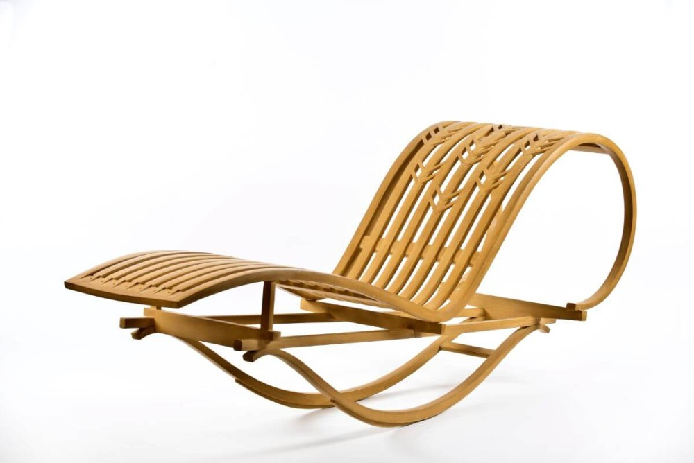 Bentwood rocking chaise lounge craftnow philadelphia for Chaise x rocker