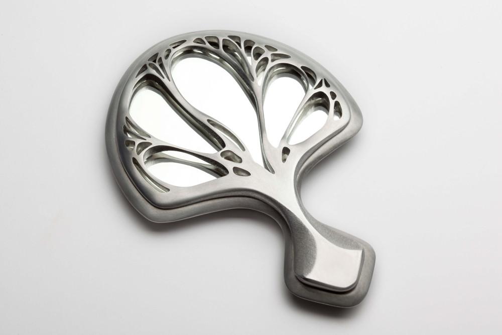 Carved Aluminum Handmirror
