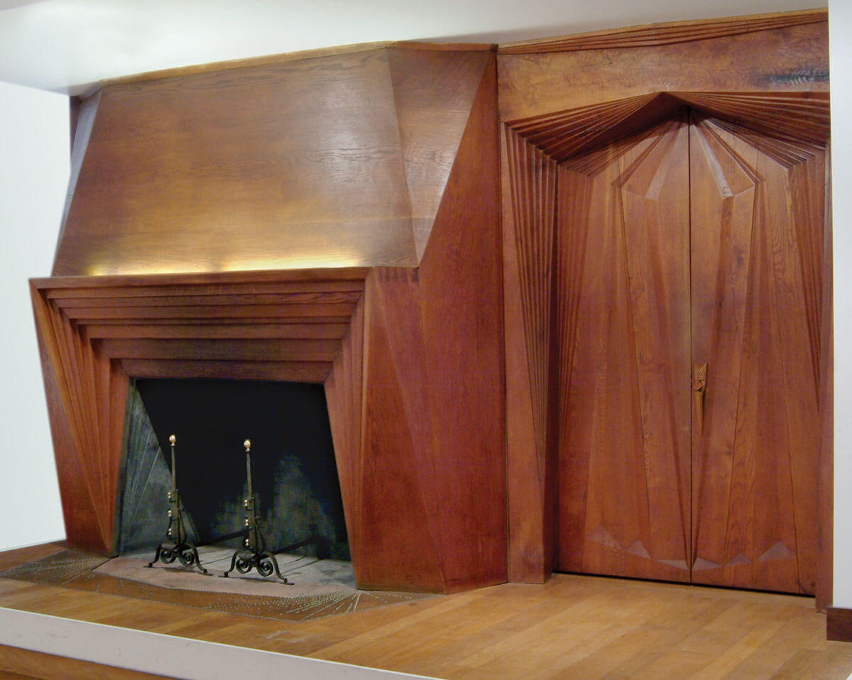 Fireplace and Doorway, from the Judge and Mrs. Curtis Bok House